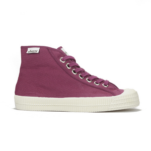 Novesta High Top Sneaker Wine Red Colour with Red Sole - side image