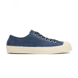 Novesta Suede Blue Shoe with white sole - side image