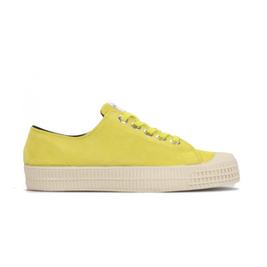 Novesta Suede Yellow Shoe with white sole - side image
