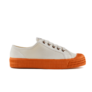 Novesta Star Master Low Top Sneaker - White top, orange sole - Partisan, Parkhurst, Johannesburg - side view