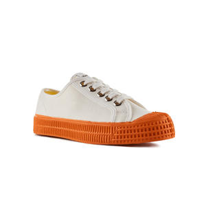 Novesta Star Master Low Top Sneaker - White top, orange sole - Partisan, Parkhurst, Johannesburg