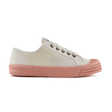 Novesta Star Master Low Top Sneaker - White top, pink sole - Partisan, Parkhurst - side view