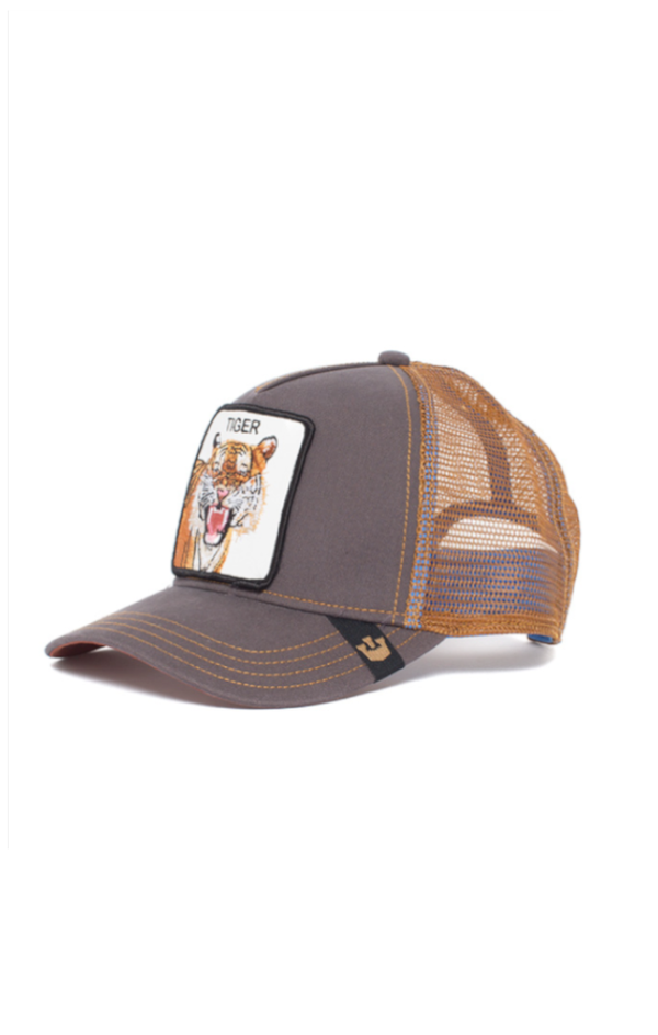 Eye of the Tiger Trucker Cap - Brown
