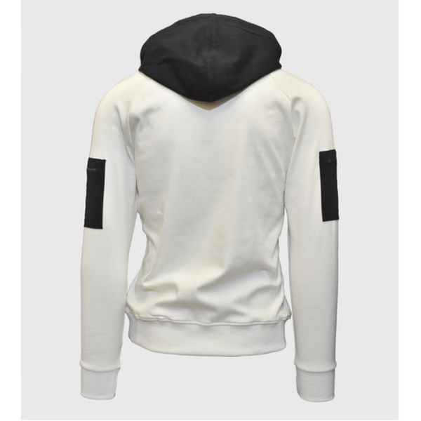 Vista Hooded Sweatshirt - White/Black