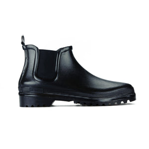 Novesta Rubber Chelsea Boots - Black - Unisex - Waterproof - Cotton Lining - Partisan, Parkhurst, Johannesburg - side view