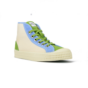 Novesta Star Dribble High Top Sneaker - Blue and Green - Partisan, Parkhurst, Johannesburg - Side View