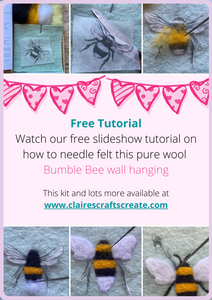 Welcome to our Needle Felted Bumble Bee Picture Tutorial!