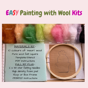 EASY Painting with Wool Tutorial