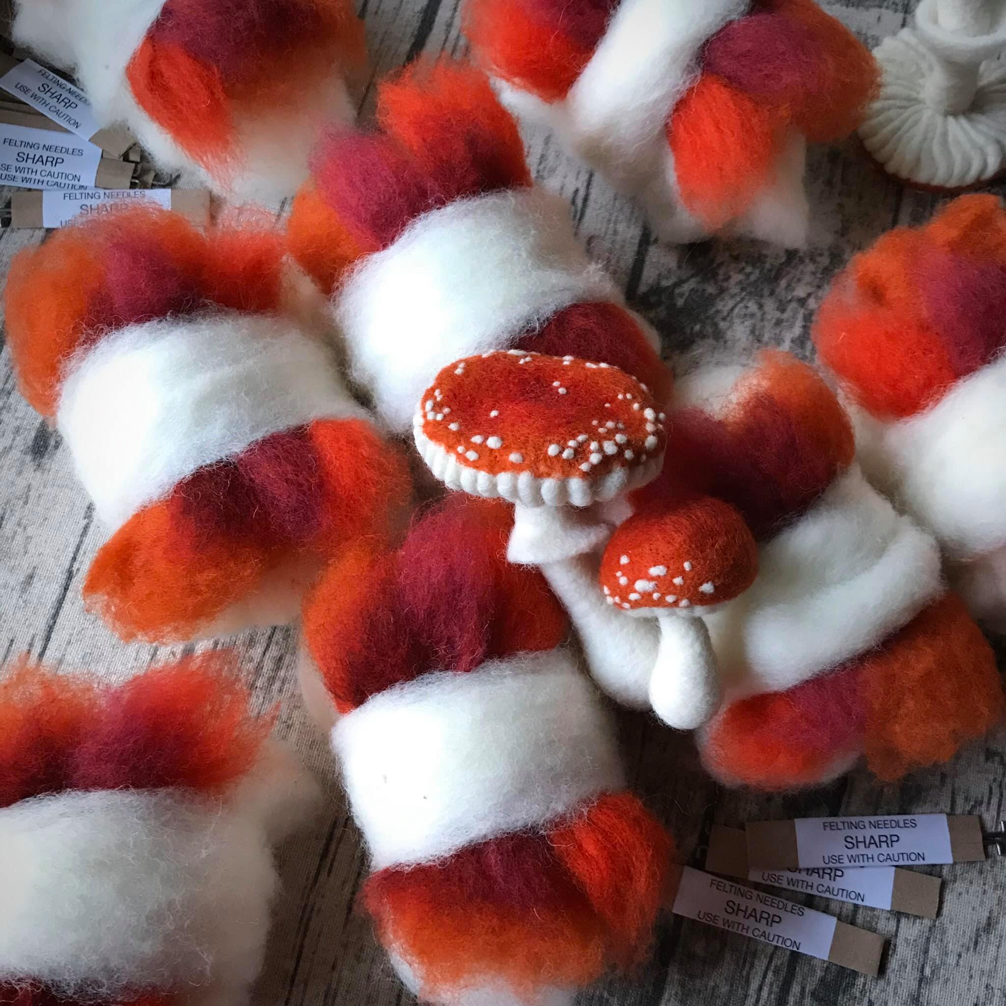 *NEW* Workshop in a Box - Needle Felted Toadstools by The Lady Moth