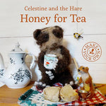Load image into Gallery viewer, Celestine and the Hare Gift Set - 'Honey for Tea' Story Book and Bumble Bee Colours Felting Pack