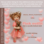 Load image into Gallery viewer, Online Needle Felting Workshop by Anna Potapova - 'Child' doll - kit with 1 hour 45 minutes online video tutorial  INCLUDES *FREE DELIVERY