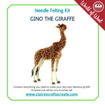 Load image into Gallery viewer, Gino the Giraffe  Needle Felting Kit