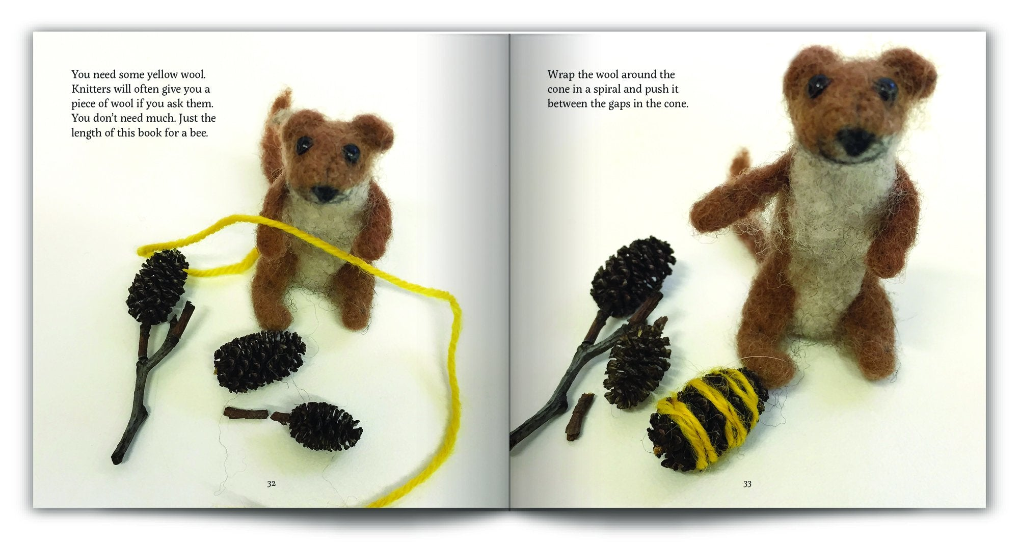 Celestine and the Hare Gift Set - 'Honey for Tea' Story Book and Bumble Bee Colours Felting Pack