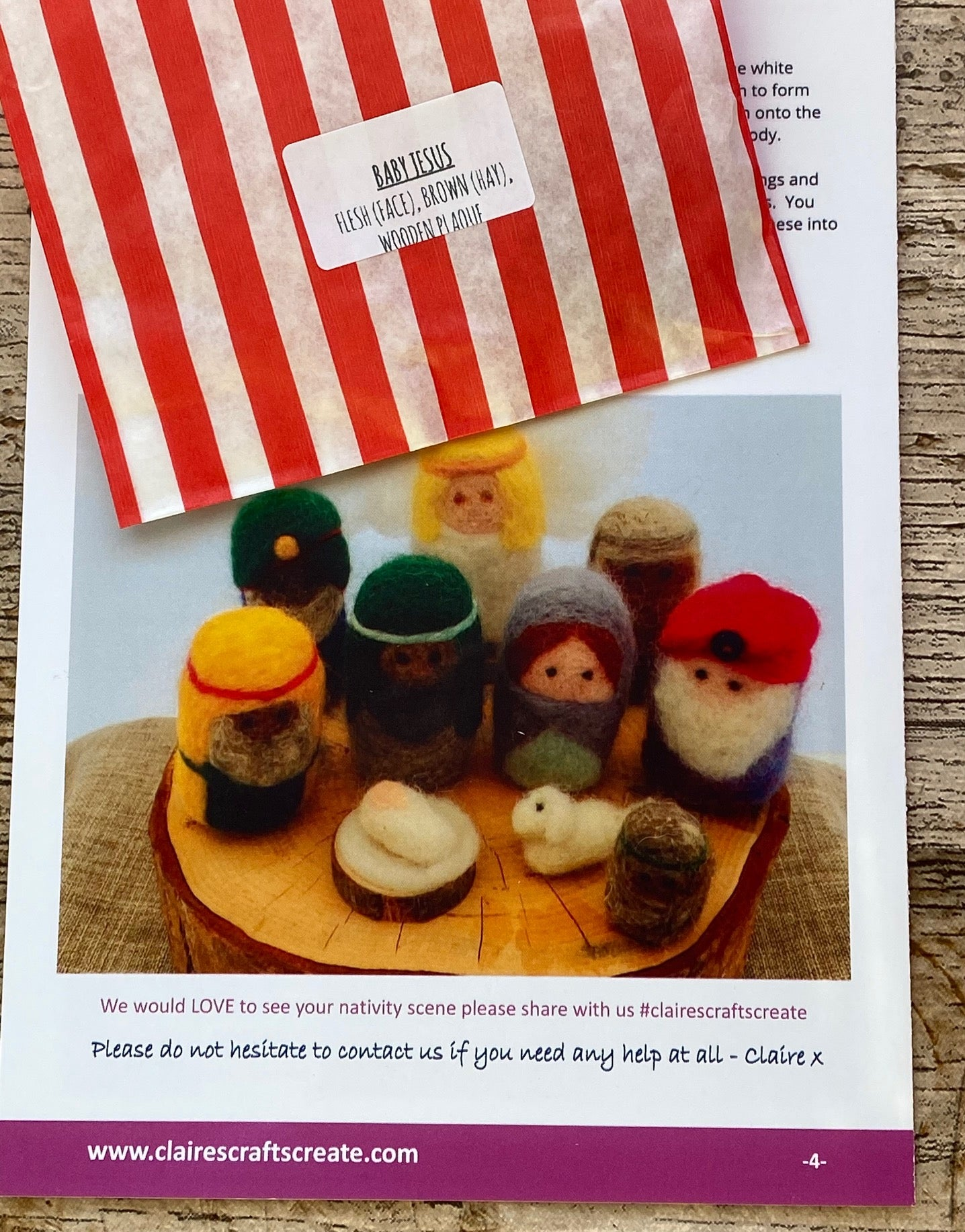 'The Nativity' Needle Felting Kit