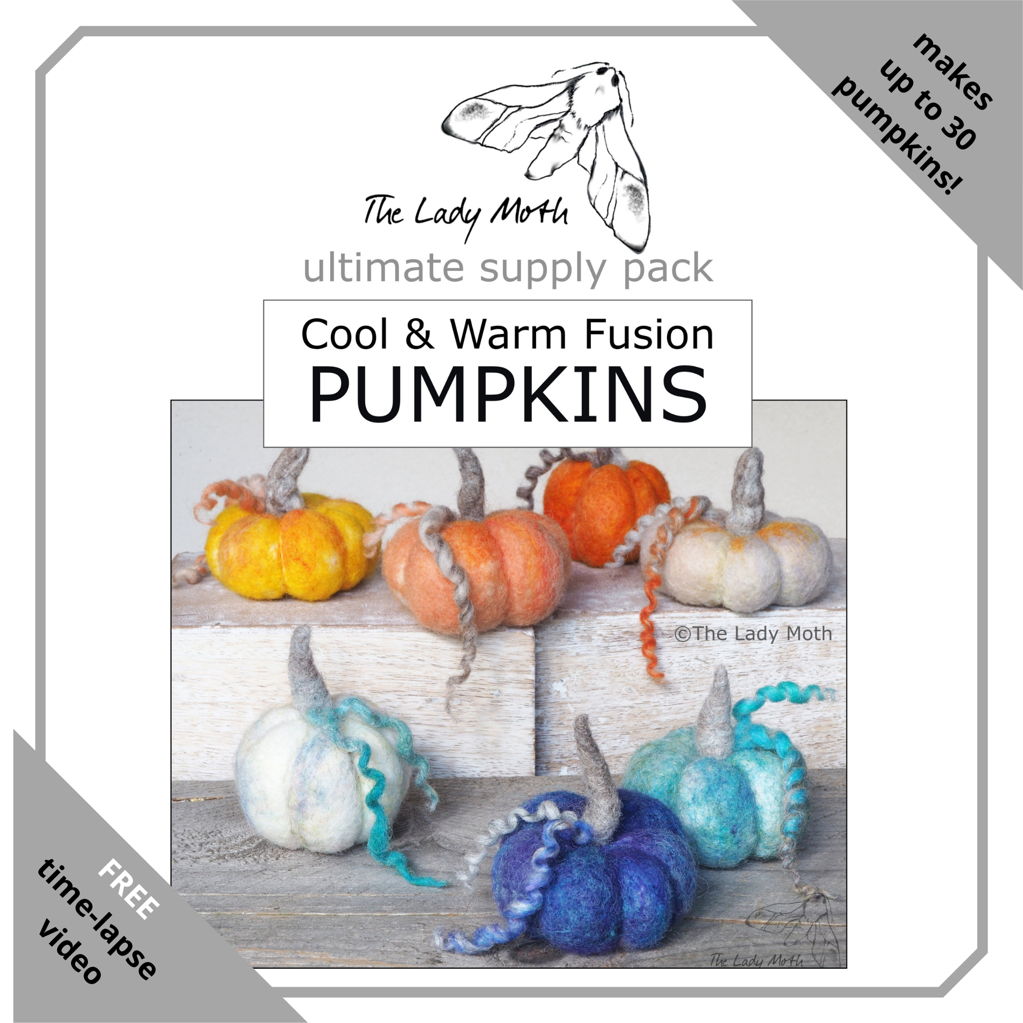 The Lady Moth COOL & WARM FUSION ultimate pumpkin supply pack