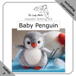 Load image into Gallery viewer, The Lady Moth - Baby Penguin Needle Felting Kit