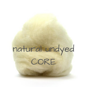Carded Corriedale Slivers   Natural Undyed   perfect for CORE