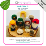Load image into Gallery viewer, 'The Nativity' Needle Felting Kit