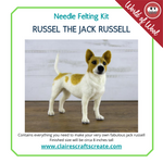 Load image into Gallery viewer, Russell the Jack Russell  Needle Felting Kit