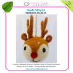 Load image into Gallery viewer, Reindeer Baubles Needle Felting Kit
