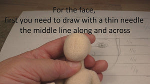Online Needle Felting Workshop by Anna Potapova - 'Child' doll - kit with 1 hour 45 minutes online video tutorial  INCLUDES *FREE DELIVERY