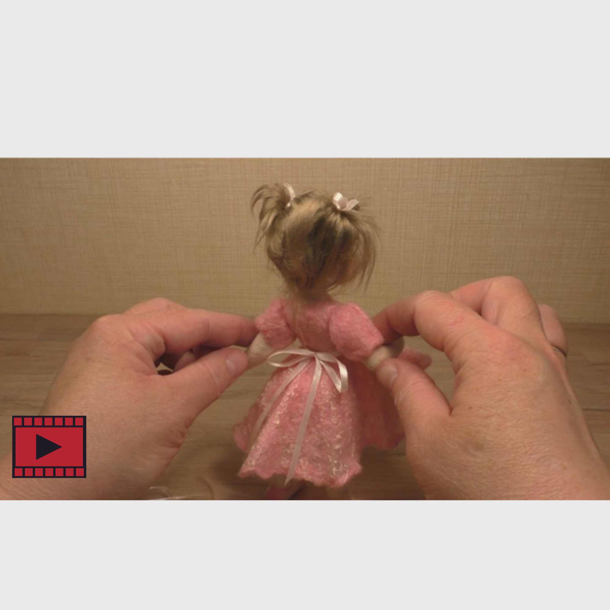 Masterclass Online Felting Workshop by Anna Potapova - 'Hope' ballerina doll - kit with 3 hour online video tutorial - INCUDES *FREE DELIVERY