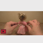 Load image into Gallery viewer, Online Felting Workshop by Anna Potapova - 'Hope' ballerina outfit and teddy bear - kit with 75 minutes high quality online video tutorial.  INCLUDES *FREE DELIVERY