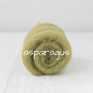 Carded Batting New Zealand Wool DHG 'Maori' Batt - Asparagus