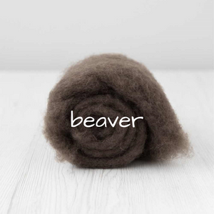 Carded Batting New Zealand Wool DHG 'Maori' Batt - Beaver