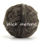 Load image into Gallery viewer, Carded Black Shetland Slivers  50g