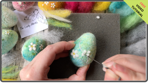 *NEW*  Workshop in a Box - Needle Felted Blossom Eggs by The Lady Moth