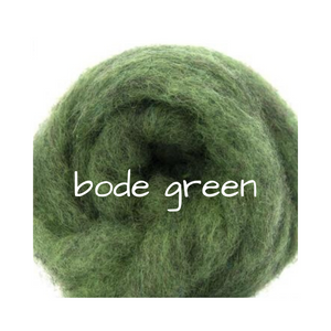 Carded Corriedale Slivers   Bode Green