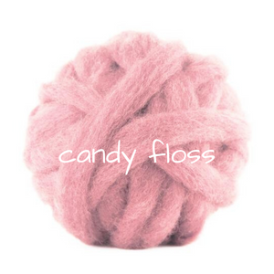 Carded Corriedale Slivers   Candy Floss