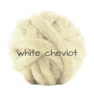 Carded White Cheviot Slivers  perfect for CORE