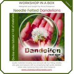 Load image into Gallery viewer, Workshop in a Box - Needle Felted Dandelions by Anna Potapova