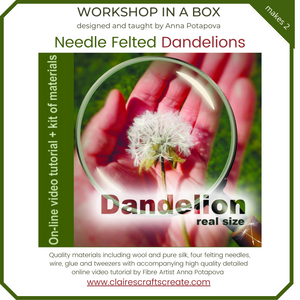 Workshop in a Box - Needle Felted Dandelions by Anna Potapova