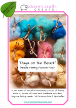 Load image into Gallery viewer, 'Days On The Beach' Needle Felted Picture Kit