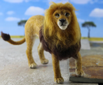 Load image into Gallery viewer, Lewie The Lion  Needle Felting Kit