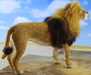 Lewie The Lion  Needle Felting Kit