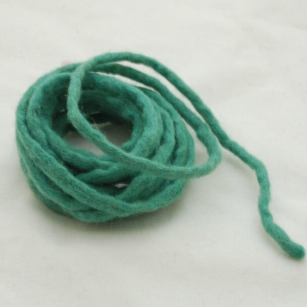 Handmade 100% Wool Felt Cord - Light Sea Green