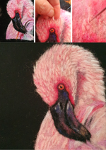 Load image into Gallery viewer, Needle Felted Flamingo Picture Kit