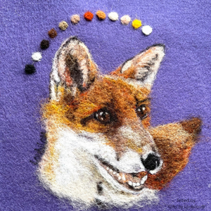 Needle Felted Fox Picture Kit