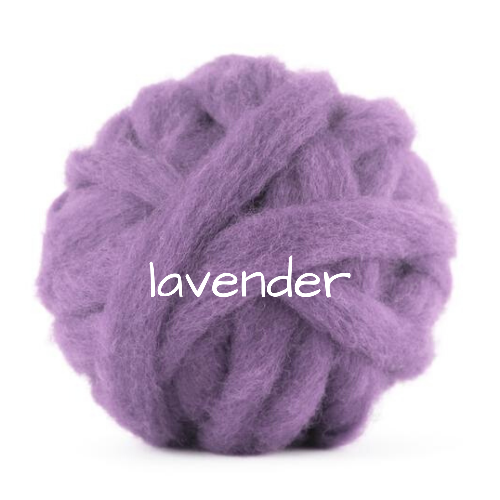 Carded Corriedale Slivers   Lavender Purple  25g
