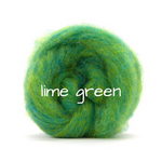 Load image into Gallery viewer, Carded Corriedale Slivers   Lime Green