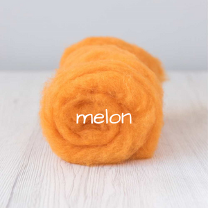 Carded Batting New Zealand Wool DHG 'Maori' Batt - Melon