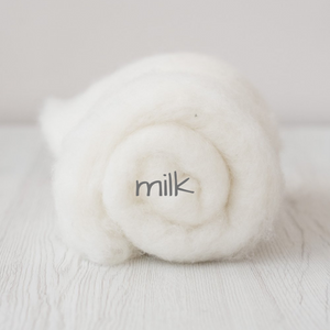 Carded Batting New Zealand Wool DHG 'Maori' Batt - Milk