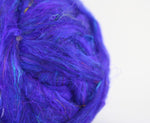 Load image into Gallery viewer, Sari Silk Top/Roving - 'Moon River'  20g