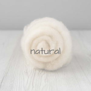 Carded Batting New Zealand Wool DHG 'Maori' Batt - Natural