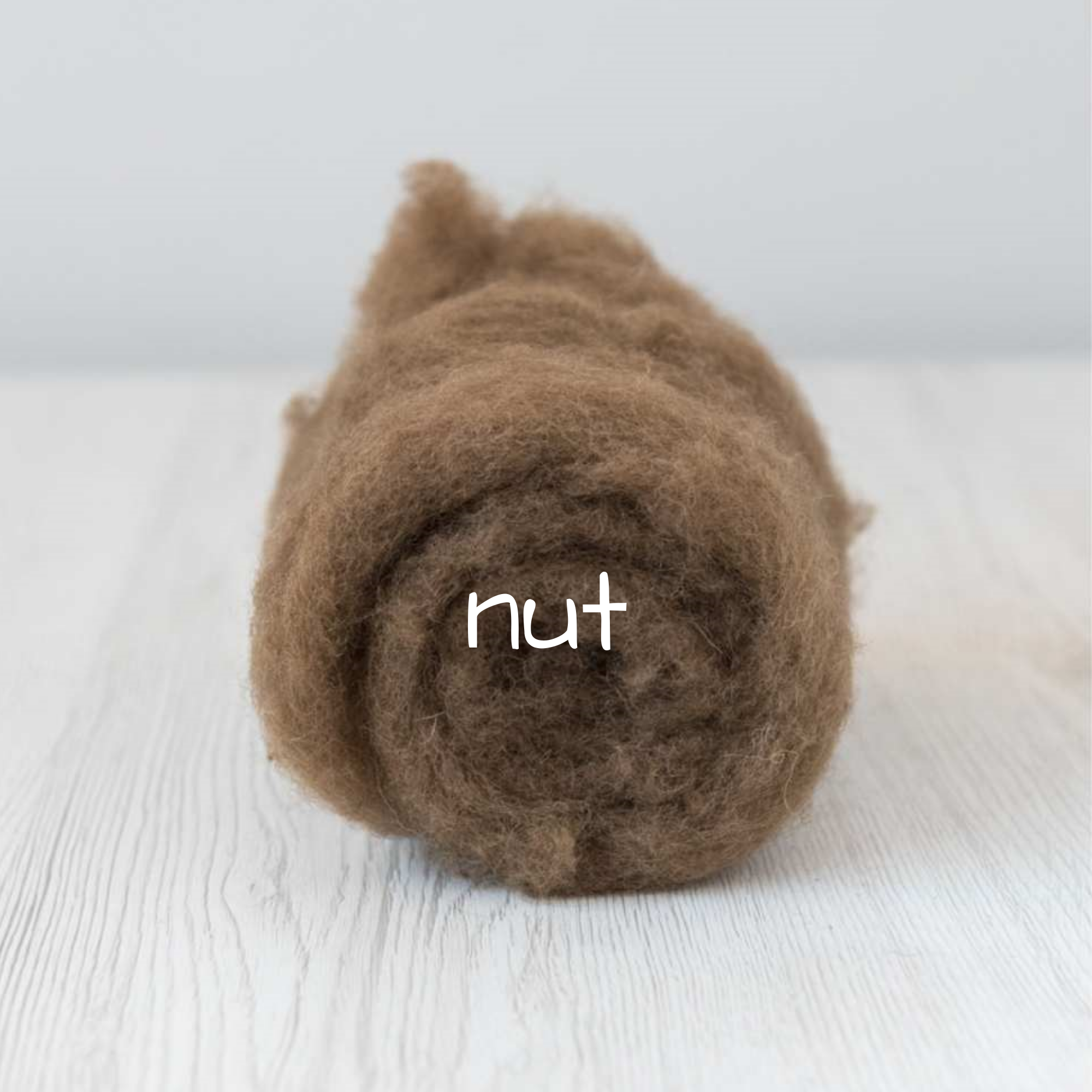 Carded New Zealand Wool DHG 'Maori' Batt - Nut