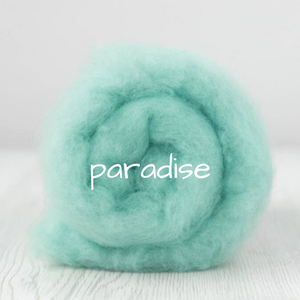 Carded Batting Extra Fine Merino Needle Felting Wool - Paradise